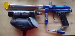 Kingman Spyder TL-X Paintball Marker and Grizzly 840c Air R..