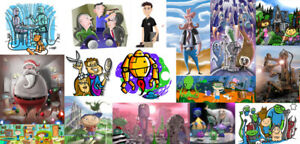 3D/2D Illustrator/Animator Avail for freelance projects
