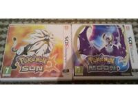 Collection of 3 Nintendo DS / 3DS Pokemon Games [Including: Sun & Moon]