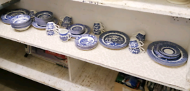 Willow pattern tableware by Churchill and other well known names.