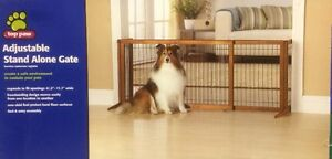 Top Paw Adjustable Stand Alone Dog Gate