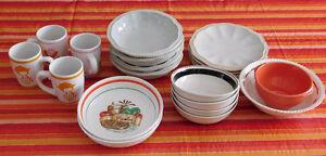Variety of China Dishes,20 pieces