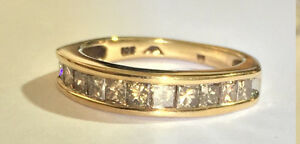 PRINCESS CUT DIAMOND WEDDING BAND 1.00 CT TDW .