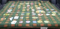 Vintage Canada Boy Scouts Blanket covered in badges