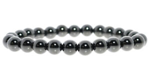 Hematite Round Bead Stretch Bracelet - 8mm