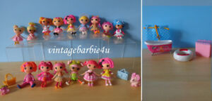 Lalaloopsy Mini Doll Lot - 14 Dolls Clothes Pets Furniture