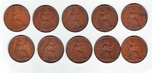 Great Britain large cent coins 1937-1949 Windsor Region Ontario image 1