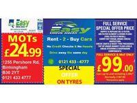 Car MOT and Service Birmingham Rent 2 Buy Cars