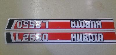 Kubota L2550 Hood Decals