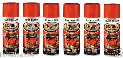 Chevy Orange Engine Paint - 6pk Rust-Oleum Automotive Engine Enamel Spray Paint High Temp CHEVY ORANGE