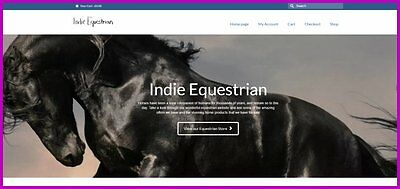 Horseequestrian Website407.90 A Salefree Domainfree Hostingfree Traffic