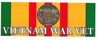 *** VIETNAM WAR VET *** Military Veteran Bumper Sticker BM0081 EE