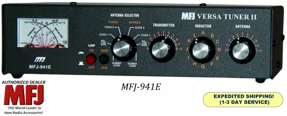 Mfj-941e Versa Tuner Ii, Hf, 300 Watts With Mini Cross Me...