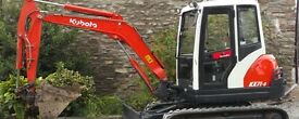 Mini digger and dumper hire with operator