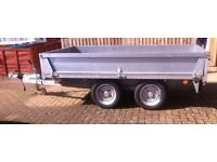 Bateson 2011 Twin Axle Braked Galvenised steel trailer (converts to flat bed)