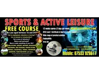 FREE COURSE (Sports and SCUBA Diving)