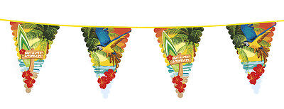 Giant Beach Pennant Flag Bunting Hawaiian Party Decoration  20ft / 6m Long - New