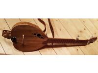 Unusual Haystack short scale Gourd wood top 5 string banjo. A wonderful banjo ukelele crossover.