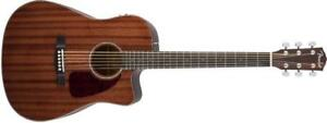 Guitare acoustique-électrique Fender CD-140SCE, All Mahogany, Natural Gloss 0961452021 VENTE DÉSTOCKAGE