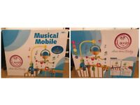 *BRAND NEW RRP £40* Crib Musical Mobile, AwesomeBaby Cot Baby Mobile with 4 Baby Toys
