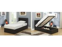 **LIMITED OFFER**SINGLE LEATHER BED WITH STORAGE & WITH OUT STORAGEFOR SALE IN BROWN AND BLACK