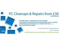 PC Cleanups & Repairs - Local Service From £30!
