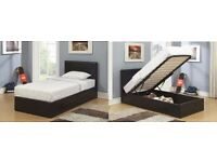 - SINGLE OTTOMAN STORAGE LEATHER BED WE DO DOUBLE AND KINGSIZE FRAME & MATTRESS -- FREE DELIVERY !!