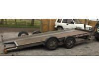 BRIAN JAMES HYDRAULIC TILT BED ALLOY CAR TRANSPORTER CENTRE DECKING RECOVERY TRAILER 16FT TWIN AXLE
