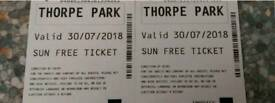 two thorpe park tickets