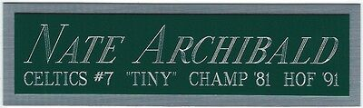 (NATE ARCHIBALD CELTICS NAMEPLATE FOR AUTOGRAPHED SIGNED BASKETBALL-JERSEY-PHOTO)
