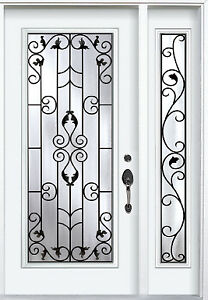 Single Front Entrance Door with One Sidelight