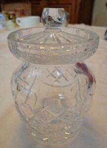Vintage Crystal sugar/marmalade Bowl with lid