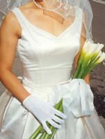 Silk Ivory Wedding Gown