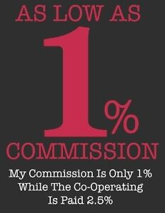 1% Listing Commission With Maximum Results