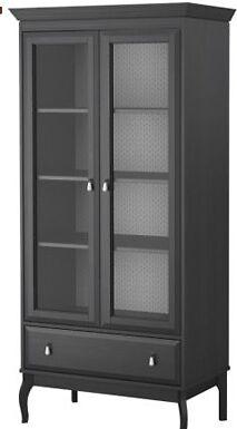 Ikea Hemnes Linen Cabinet Glass Door Wardrobe In