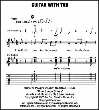 Guitar guitar chords notation : Musical Progressions' Music Notation Guide | eBay