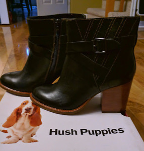 Size 10 Boots - Hush Puppies Black/brown - Never Worn