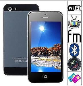 """4"""" Resistive Screen 4-Band Dual-Sim Unlocked Mobile Phone with W"""
