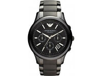 Armani AR1452 Men's Black Ceramica Watch RRP £499 Now Only £110