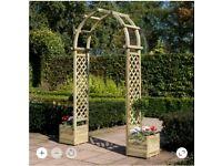 Wooden Round Top Garden Archway