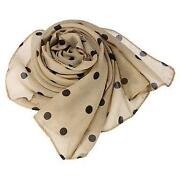 Womens Cream Scarf