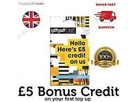 FREE GIFFGAFF SIM £5 CREDIT