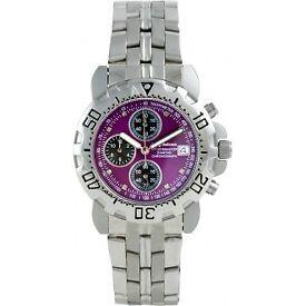 Krug Baumen 241269DM-PU Mens Sportsmaster Diamond Purple Dial, new and box, £95