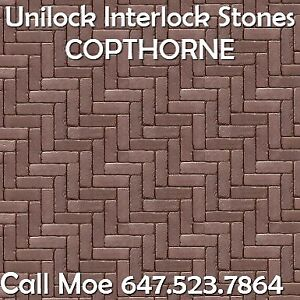 Copthorne Unilock Brick Pavers Burgundy Red Brick Pavers Vaughan