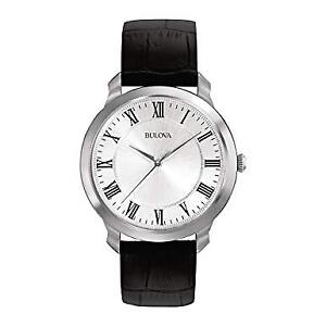 Bulova Mens leather Strap Watch 96A133