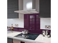Glass Splashback - Deep Purple 90 cm x 75 cm