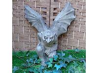 Stone Winged Gargoyle - Wall Mounted - Christmas Gift
