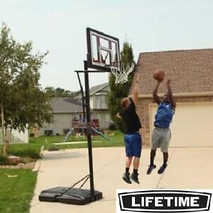 """NEW* LIFETIME 48"""" BASKETBALL SYSTEM COURTSIDE PORTABLE BASKETBALL SYSTEM 108830703"""