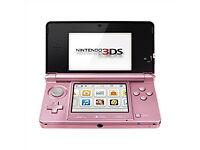 Pink Nintendo 3DS Console with Charger - Can Be Seen Working!