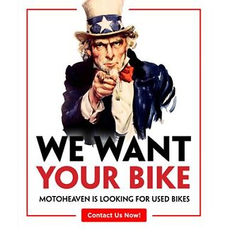 Wanted: We want to buy your bike! Cash paid immediately - call now